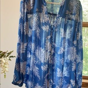 🍀Lucky Brand floral tunic